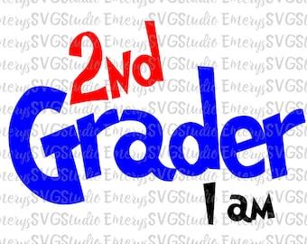 SVG  File for 2nd Grader I am