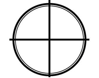 Scope #2 Shotgun Rifle Target Gun Weapon Shooting Hunting .SVG .EPS .PNG Instant Digital Clipart Vector Cricut Cut Cutting Download File