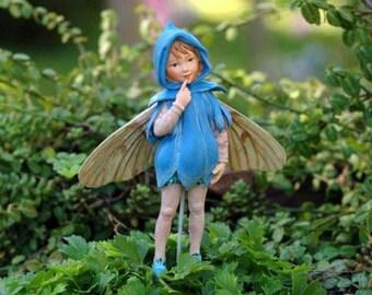 Miniature Dollhouse FAIRY GARDEN ~ Retired Flower Fairy Scilla ~ NEW