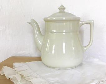 Vintage Teapot, ceramic tea pot, farmhouse kitchen, tea time decor, cottage decor