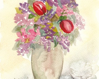 bouquet 30 - original watercolor painting