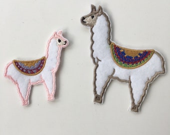 Fluffy Cute Kawaii Llama Alpaca Iron On Embroidered Patch