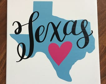 Home Decor, Ceramic Sign, State decor, state sign, texas decor, 12x12, home sweet home, custom state decor sign