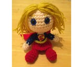 Supergirl Amigurumi Crochet Doll