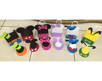 Mickey Mouse Clubhouse Birthday Party Hats or Gift Bags | Mickey Mouse Party Bags | Mickey Mouse Favor Bags | Mickey Birthday Party |