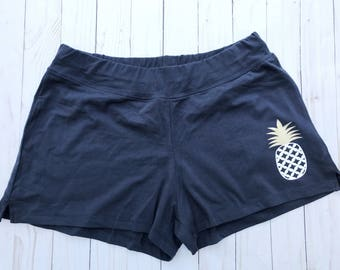 IVF pineapple lounge shorts, ivf shorts, pineapple shorts, ivf, lounge pants, infertility, ivf clothes, ttc, infertility awareness