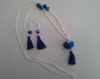 Blue and silver elegant and chic set