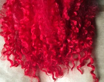 12g wensleydale wool locks red 'ruby slippers'