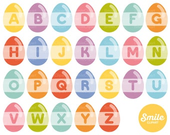 Easter Alphabet Clipart Illustration for Commercial Use | 0518