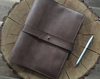 B5 cover for notebook, leather cover B5, Leather Notebook B5, Leather Notepad Cover, big Leather Notebook Cover, Leather Journal Cover