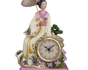 Tranquil Maiden Clock by Lena Liu - Danbury Mint -