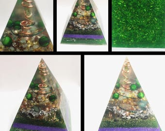 Prosperity, Wealth, and abundance (Reiki Charged) Orgone Pyramid