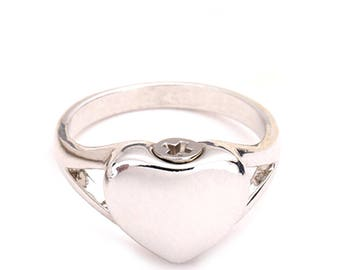 Cremation Ring Memorial Jewellery, Cremation Jewelry, Pet Memorial, Urn Ring, Ashes Holder, Ashes Ring, Pet Cremation, Engraving Available.
