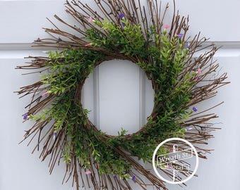Twig Wreath, Summer Wreath, Front Door Wreath, Wreath Street Floral, Boxwood Wreath, All Season Wreath, Spring Wreath