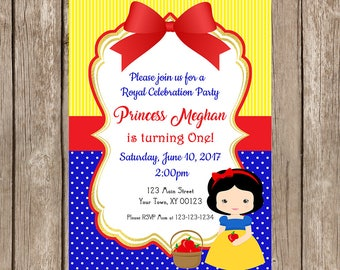 Snow White Birthday Invitation - Digital