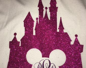 Castle Disney inspired monogrammed shirt
