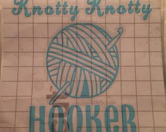 Vinyl sticker/decal Crochet
