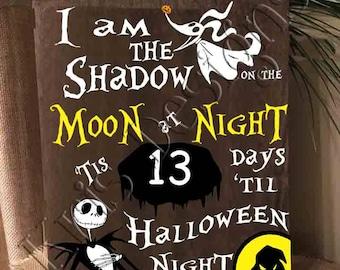 Countdown to Halloween - Nightmare Before Christmas SVG PNG JPG