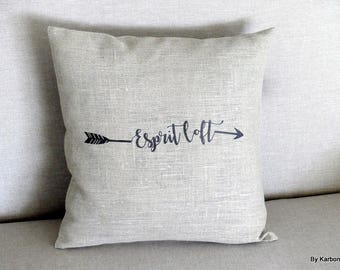 "Cushion cover 40 x 40 ""spirit loft"" linen"