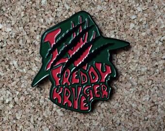 Freddy Krueger enamel pin   Freddy Krueger fan club   vintage design  nightmare on elm street   horror pins