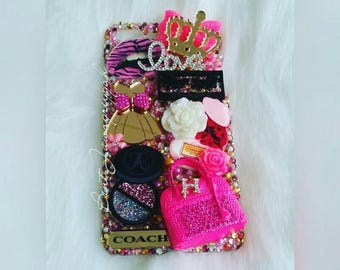 iPhone 7+ Glamourous & Pink Luxury Bling Case