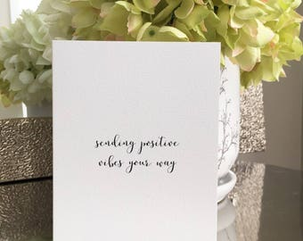 Thinking of you card/Get well card/Cancer card/Sending positive vibes your way/Sympathy card