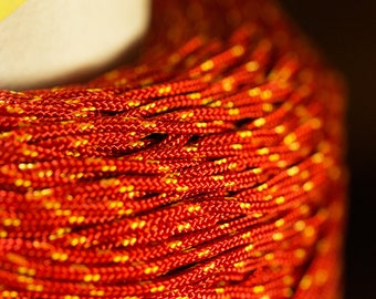 2 mm Red Nylon Cord
