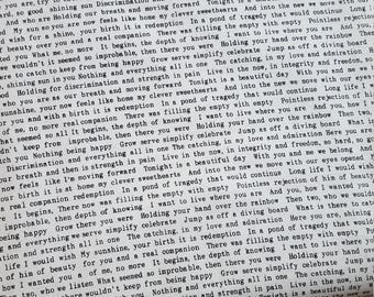 Alison Glass Remix Text in Black and White Fabric by the Yard