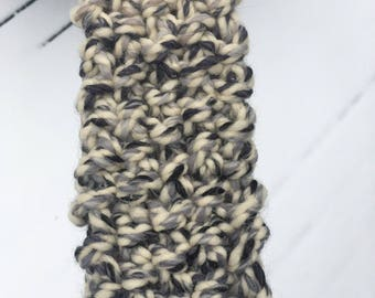 Oval Back Grey and Tan Mix Headband