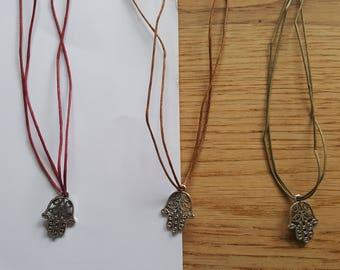 Hamsa Necklace, Hamsa Hand Necklace, Evil Eye