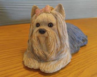 Yorkshire terrier statue,