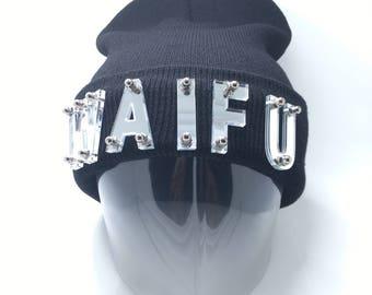 Waifu Acrylic Letters Beanie