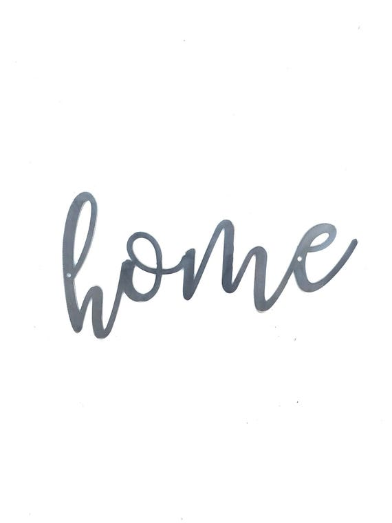 HOME Script Metal Word Wall Expressions Cursive words Metal