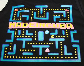 Pac-Man Gamers Tank Tops Unique Design in Next Level Apparel S-XXL