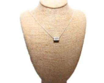Cross Cube Pendant in Sterling Silver