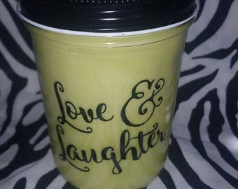 Love & Laughter 100% Soy Wax Candle