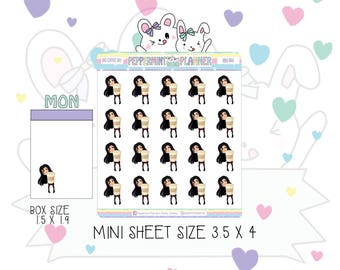 Big Coffee Day --- Planner Stickers  ---  Mini #44