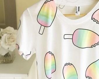 Unicorn Popsicle women's t-shirt, graphic tee, unicorn fashion