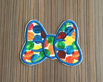 Minnie Mouse Bow Iron on Applique Patch