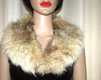 "Joli collet châle de fourrure  vintage de lynx / Vintage nice  shawl lynx fur collar  32"" X 3""1/2"