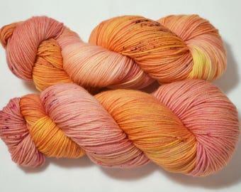 Sweet as a Peach on Sock 4-ply Superwash Merino