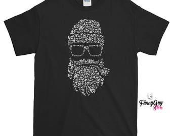 Beard T-shirt | Birds T shirt | Beard T shirt | Beard Birds Tee | Cute Beard Tee | Mens Tee | Gift For Him | Boyfriend Gift | Bird Watcher