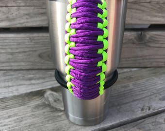 New!! Bungee Handle for Tumblers, Tumbler Handle, Paracord Handle, Fits Yeti, Ozark, RTIC and other 30oz, 32oz, 40oz Tumblers