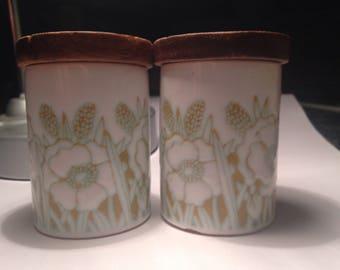 Hornsea Fleur made in England salt pepper shakers