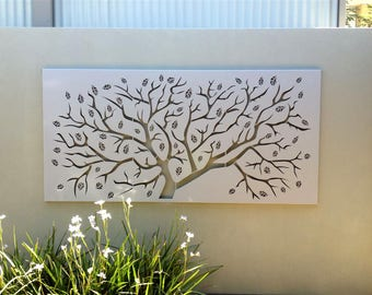 Stainless steel metal wall art - Metal art - Wall Hanging - Wall decor - Metal art sculpture