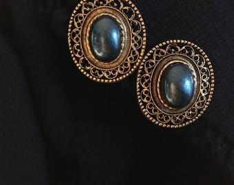 Vintage Ornate Clip-on Earrings