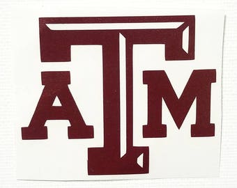 Texas A&M Decal / Aggies / yeti decal / car decal / phone decal / laptop decal