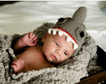 Shark hat, slouch beanie, winter hat, crochet hat, baby hat, mommy and me outfits, beanie hat, men slouchy beanie, womens winter hat