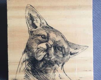 Deranged Corgi AKA fox (original handpainted)