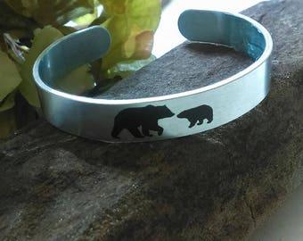 Mama Bear Cuff Bracelet, Mama, Mama Bear Jewelry, Cuff Bracelets